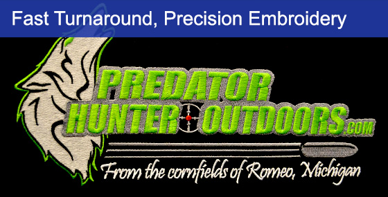 Embroidery Logo For Hunter Outdoor Company