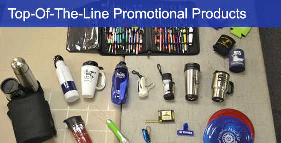Table Of Samples Of Promotional Products