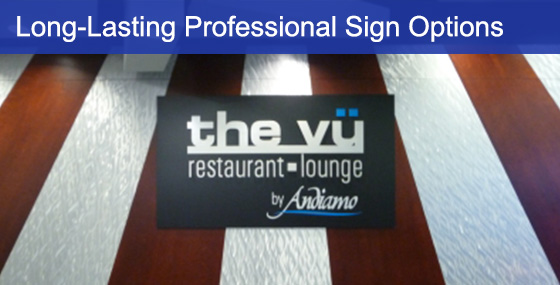 Vinyl Board Sign Example