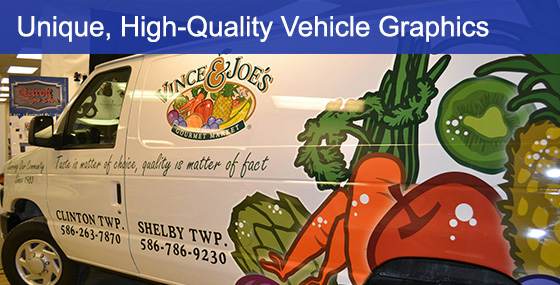 Vinyl Vehicle Graphics For Vince & Joe's Fruit Market Van