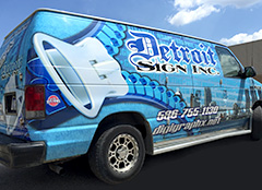 Van With Vehicle Wraps